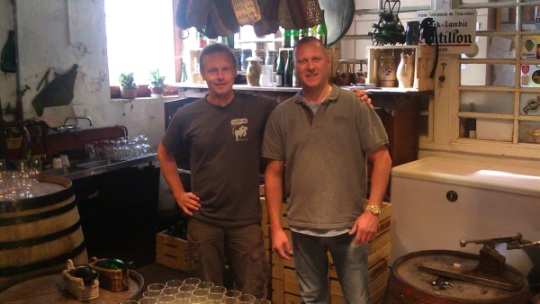 Jean from Cantillon and Kurt from Belgiuminabox