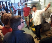 Armand gives a tour around the brewery