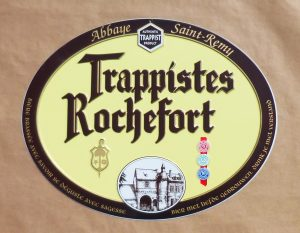 Trappistes Rochefort beer-sign (tin-metal)