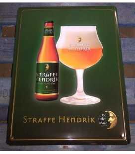 Straffe Hendrik beer-sign in tin-metal