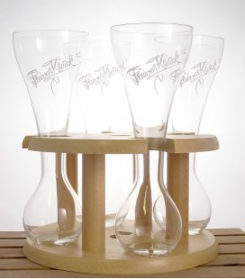 Kwak Wooden Stand for 4 Glasses (plus 1 free Glass) 33 cl