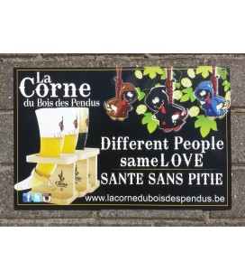 La Corne du Bois des Pendus beer-sign  (in hard-plastic)