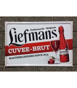 Liefmans Cuvee-Brut beer-sign in tin-metal