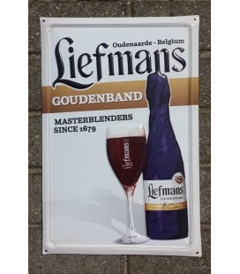 Liefmans Goudenband Beer-Sign in Tin-Metal