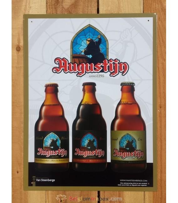 Augustijn Beer-Sign in tin-metal