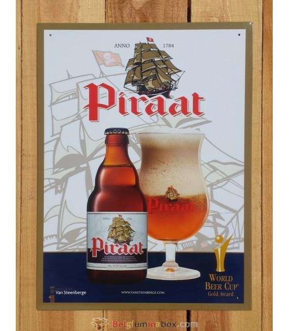 Piraat Beer-Sign in Tin-Metal