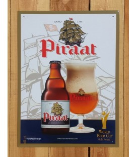 Piraat Beer-Sign in Tin-Metal