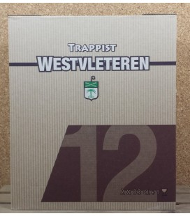 Westvleteren Trappist Gift Box of 2 x Westvleteren (Abt) 12 + 1 Westvleteren Glass 33 cl