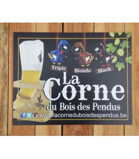 La Corne du Bois des Pendus (Triple-Blonde-Black) beer-sign in plastic