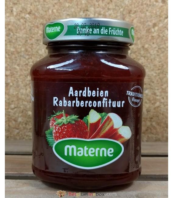 Materne Aardbeien & Rababer Confituur (Strawberry & Rhubarb Jam) 450 gr
