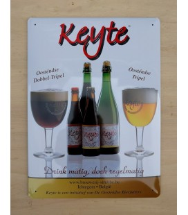 Keyte beer-sign in tin-metal