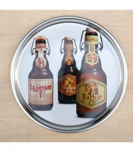 Barbar & Hopus Beer Tray (in metal)