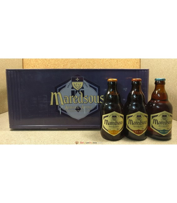 Maredsous (Blond-Bruin-Tripel) mixed crate 24 x 33 cl