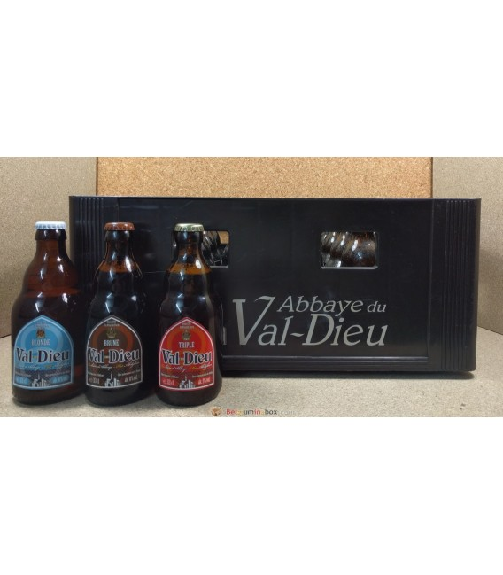 Val-Dieu mixed crate (Blonde-Brune-Triple) 24 x 33 cl