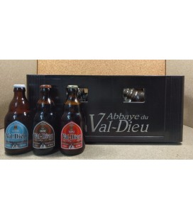 Val-Dieu mixed crate (Blonde-Brune-Triple) 24 x 33 cl