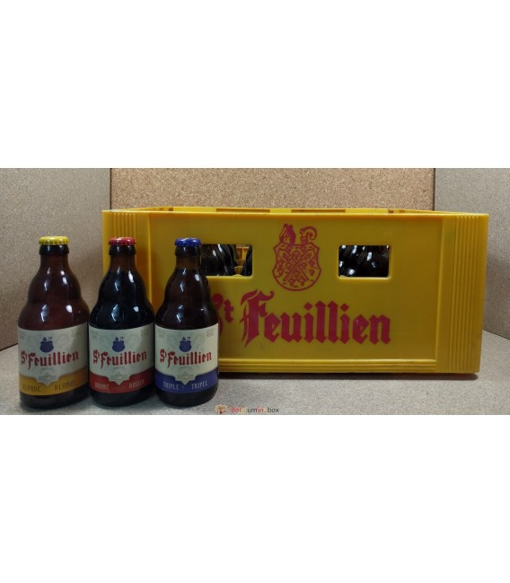 St Feuillien (Blonde-Brune-Triple) mixed crate 24 x 33 cl