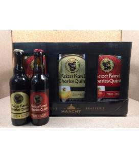 Charles Quint-Keizer Karel mixed crate (Golden Blond-Ruby Red) 24 x 33 cl