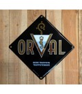 Orval Trappistenbier Beer-Sign in Emaille