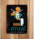 Bière d'Orval Clock in emaille