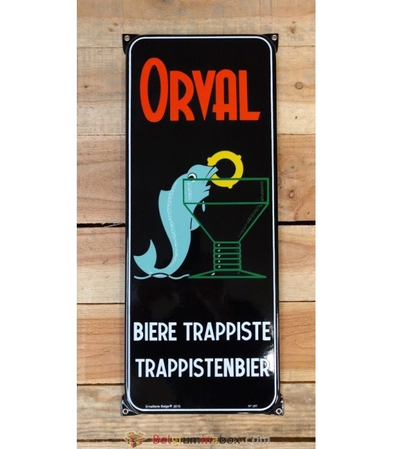 Orval Bière Trappiste-Trappistenbier Beer-Sign in Emaille