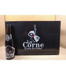 La Corne du Bois des Pendus Black full crate (in plastic) 24 x 33 cl