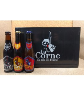 La Corne du Bois des Pendus Blonde-Triple-Black mixed crate 24 x 33 cl