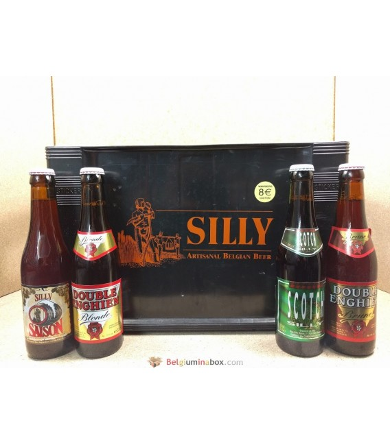 Brasserie Silly mixed crate 4x6 (Saison-Blonde-Brune-Scotch) 24 x 33 cl