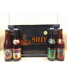 Brasserie Silly mixed crate 4x6 (Saison-Blonde-Brune-Scotch) 24 x 33 cl