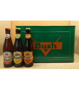 Bush mixed crate (Blond-Amber-Pêche) 24 x 33 cl