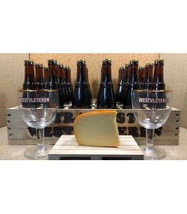 Westvleteren Abt 12 Full Crate + 2 x 33 cl Glasses + FREE Westvleteren Cheese