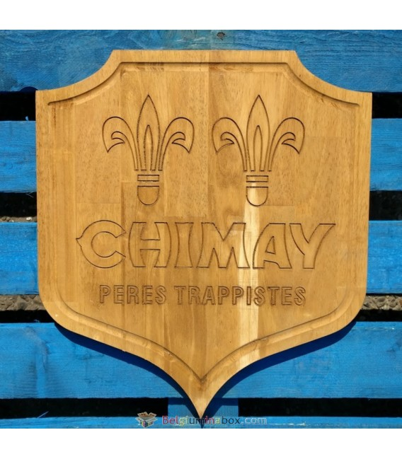 Chimay Pères Trappistes beer-sign in wood