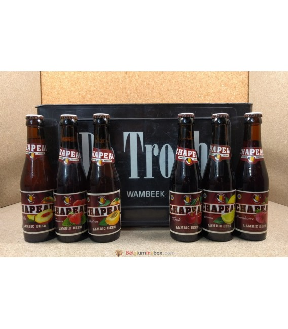 De Troch Chapeau Fruit Lambic mixed crate (6x4) 24 x 25 cl