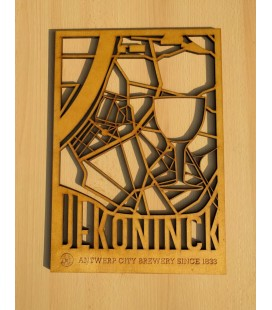 De Koninck beer-frame in wood