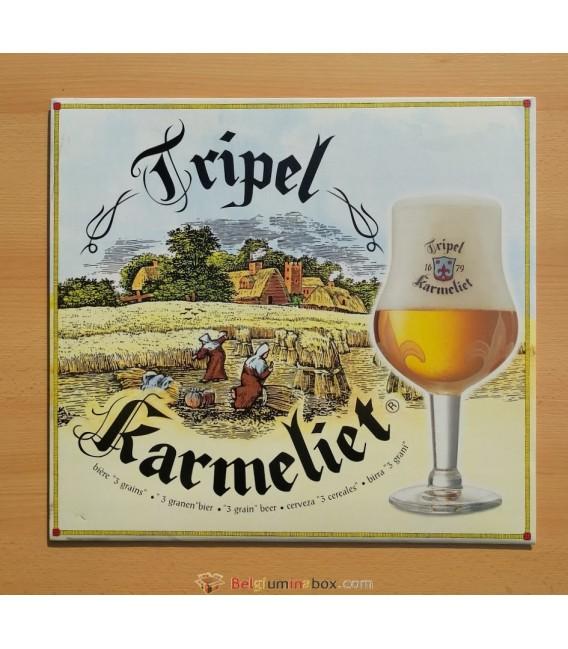 Tripel Karmeliet Beer-Sign in cardboard