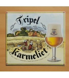 Tripel Karmeliet Beer Sign in cardboard