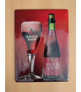 Kriek Boon Beer-Sign in tin metal