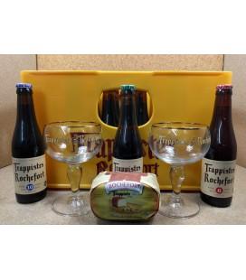 Rochefort 6-8-10 Mixed Crate + Rochefort Cheese + 2 Glasses