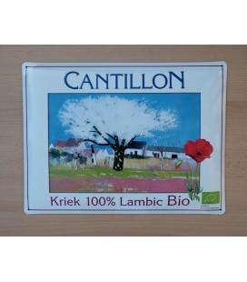 Cantillon Kriek 100% Lambic Bio Beer-Sign in tin metal