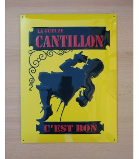 La Gueuze Cantillon C'est Bon Beer-Sign in tin metal