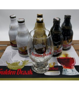 Gulden Draak 6-Pack + Dragon's Egg Glass + FREE Gulden Draak Barmat