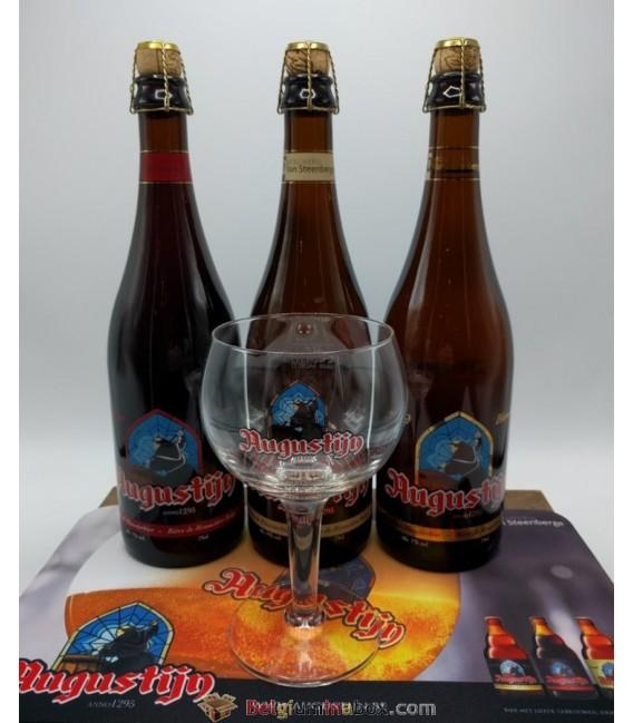 Augustijn Abbey Ale 3-pack (3x75cl) + Augustijn Glass + FREE Augustijn Barmat