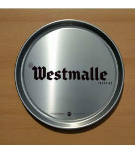 Westmalle Trappist Beer Tray (silver-colored)