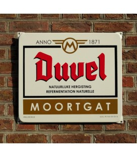 Duvel-Moortgat Beer Sign in enamel (emaille)