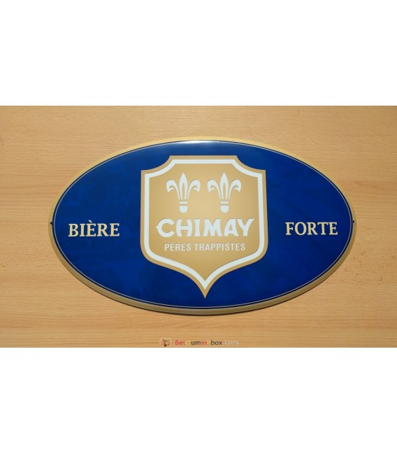 Chimay Bière Forte Beer Sign (blue color)