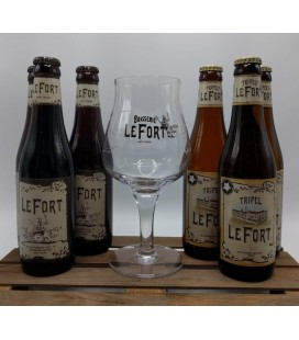 LeFort Brewery Pack (2x3) + LeFort Glass