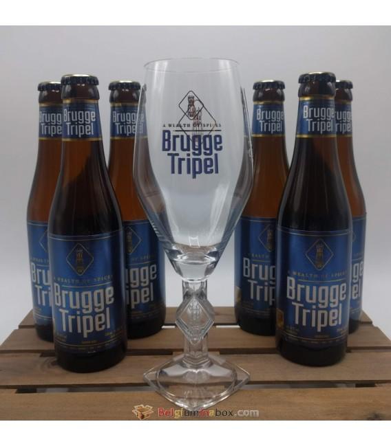 Brugge Tripel 6-Pack + Brugge Tripel Glass 33 cl