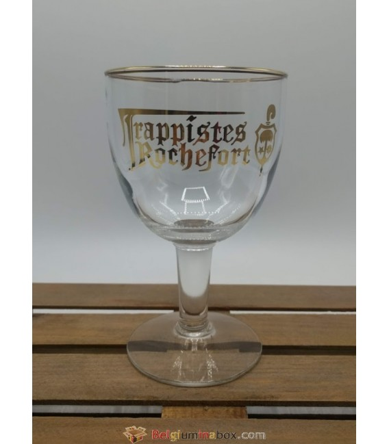 Trappistes Rochefort (golden rim & lettering) Glass 33 cl