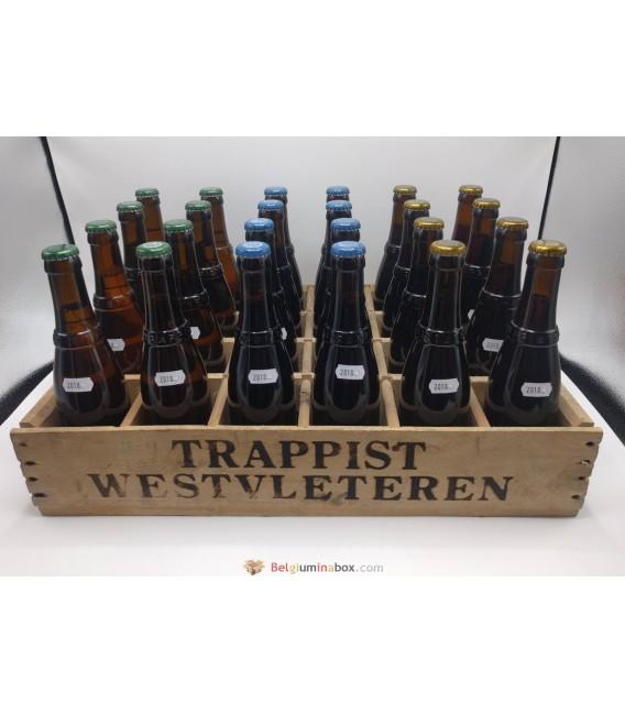 Westvleteren Mixed Crate (12-8-Blond) 2018 + Wooden Westvleteren Crate