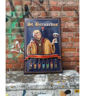 St Bernardus Beer Sign in Tin-Metal