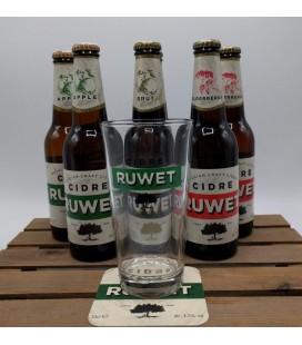 Cidrerie Ruwet 6-Pack (2x3) + FREE Ruwet Glass